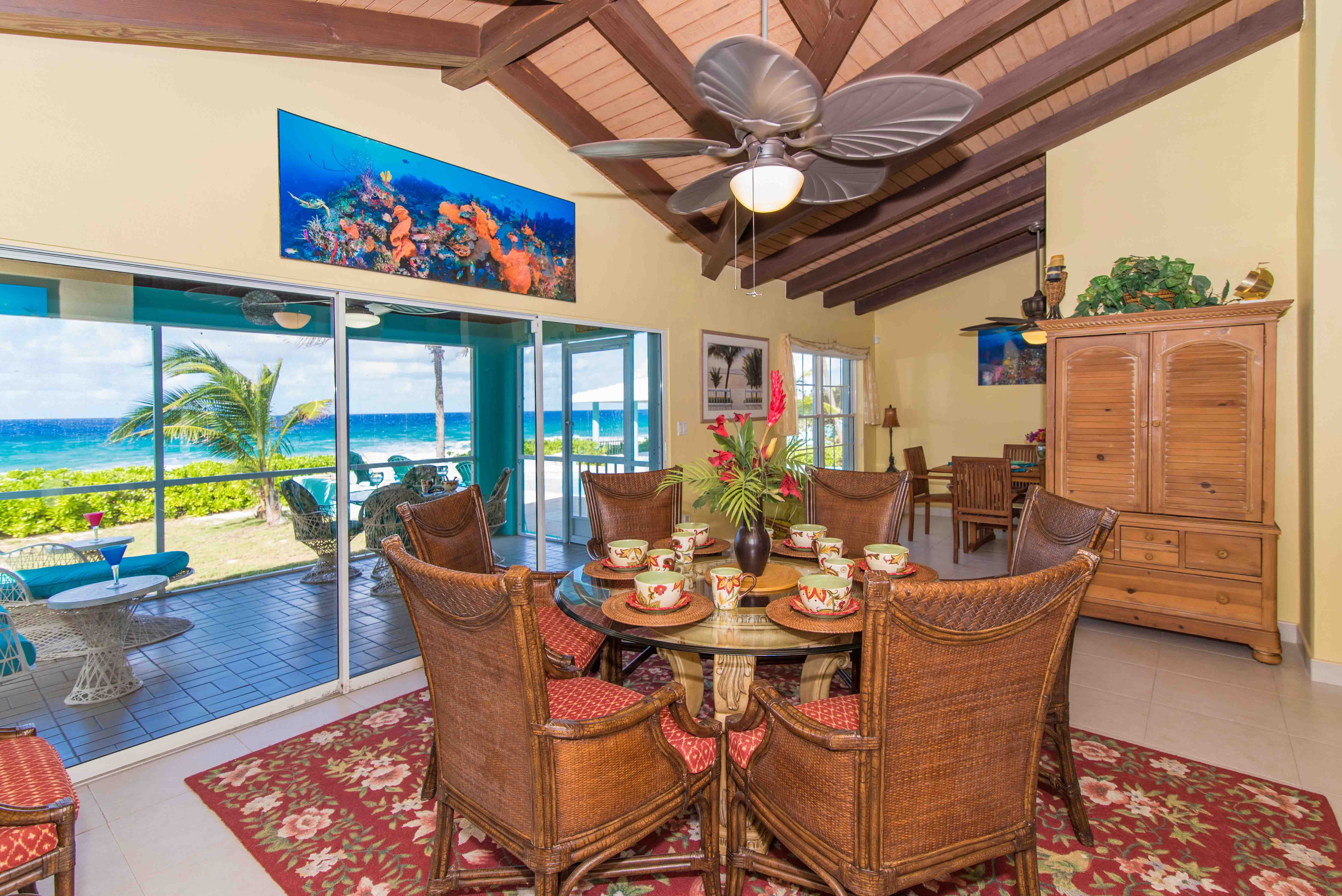 Blue Vista Oceanfront Dining Room
