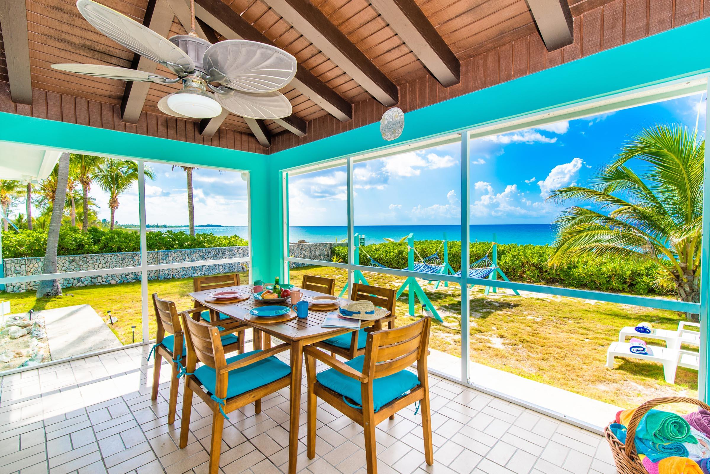 Oceanfront Outdoor Dining Area