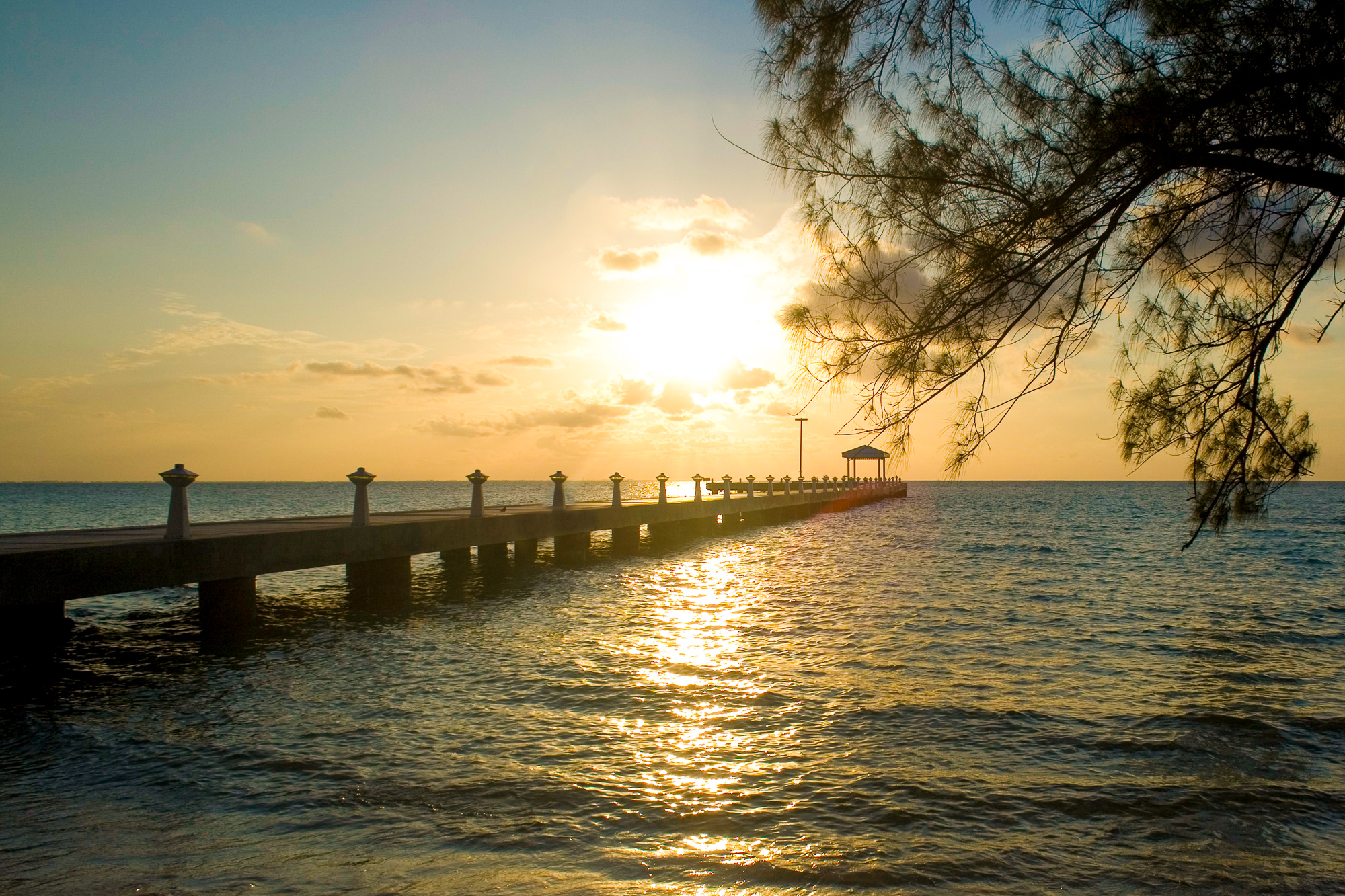 Rum Point Pier Sunset