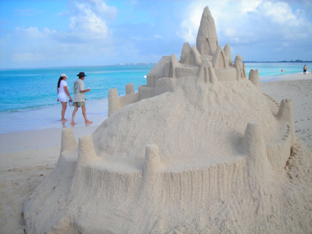 Sand Castle in Paradise
