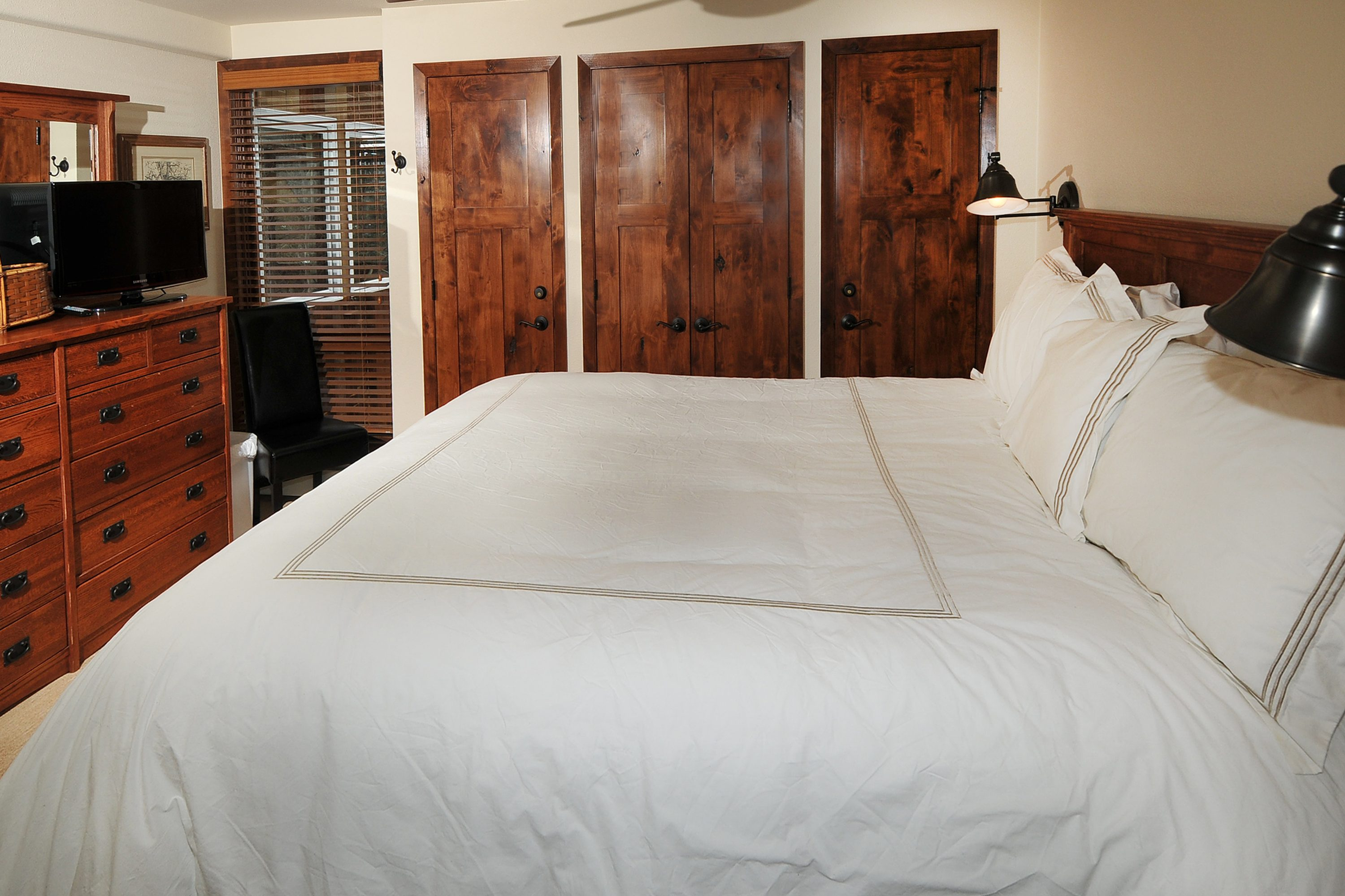 Rest up for your next big day in Vail in the master bedroom's king bed
