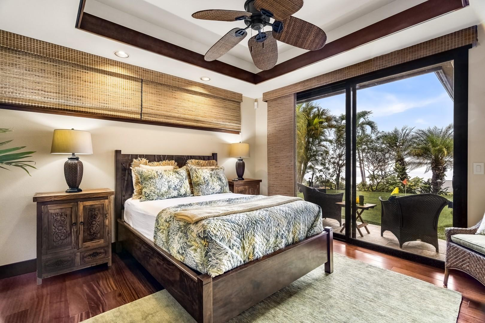 Guest bedroom nearest the putting green