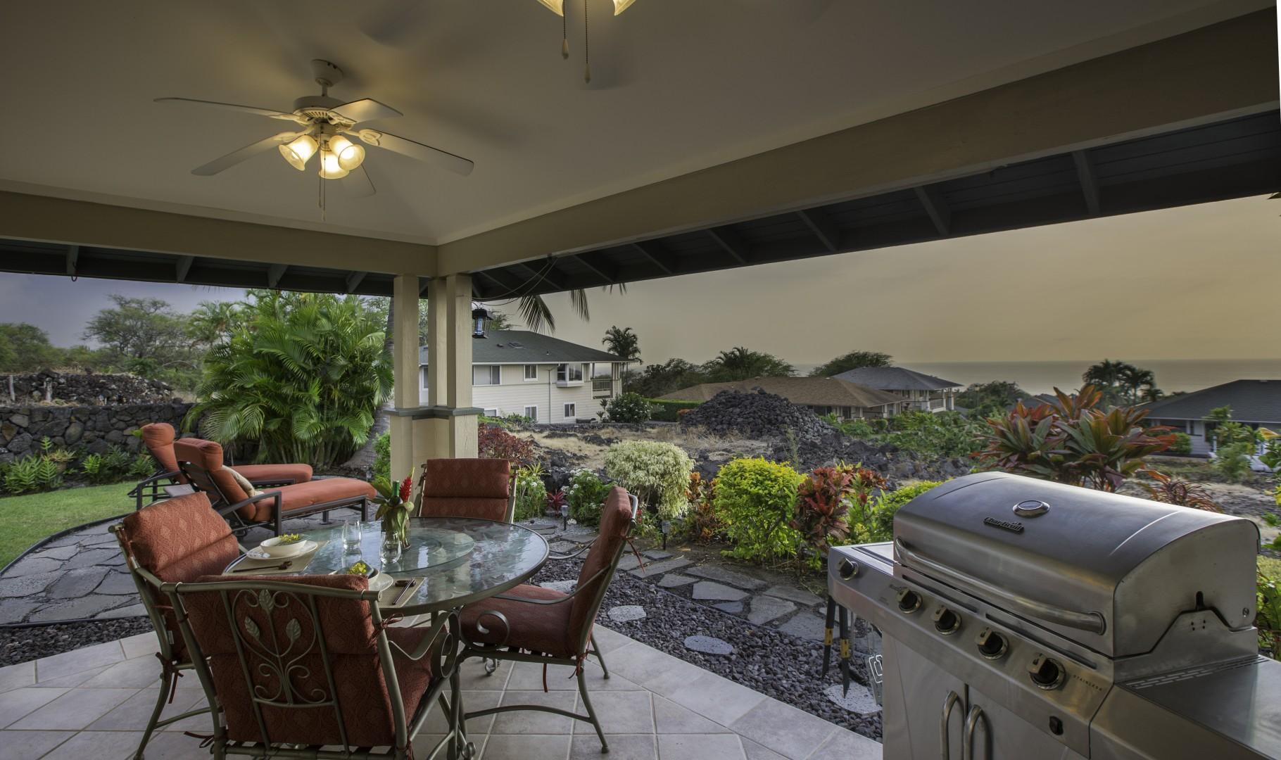 Breezy outdoor dining, perfect for grilling!