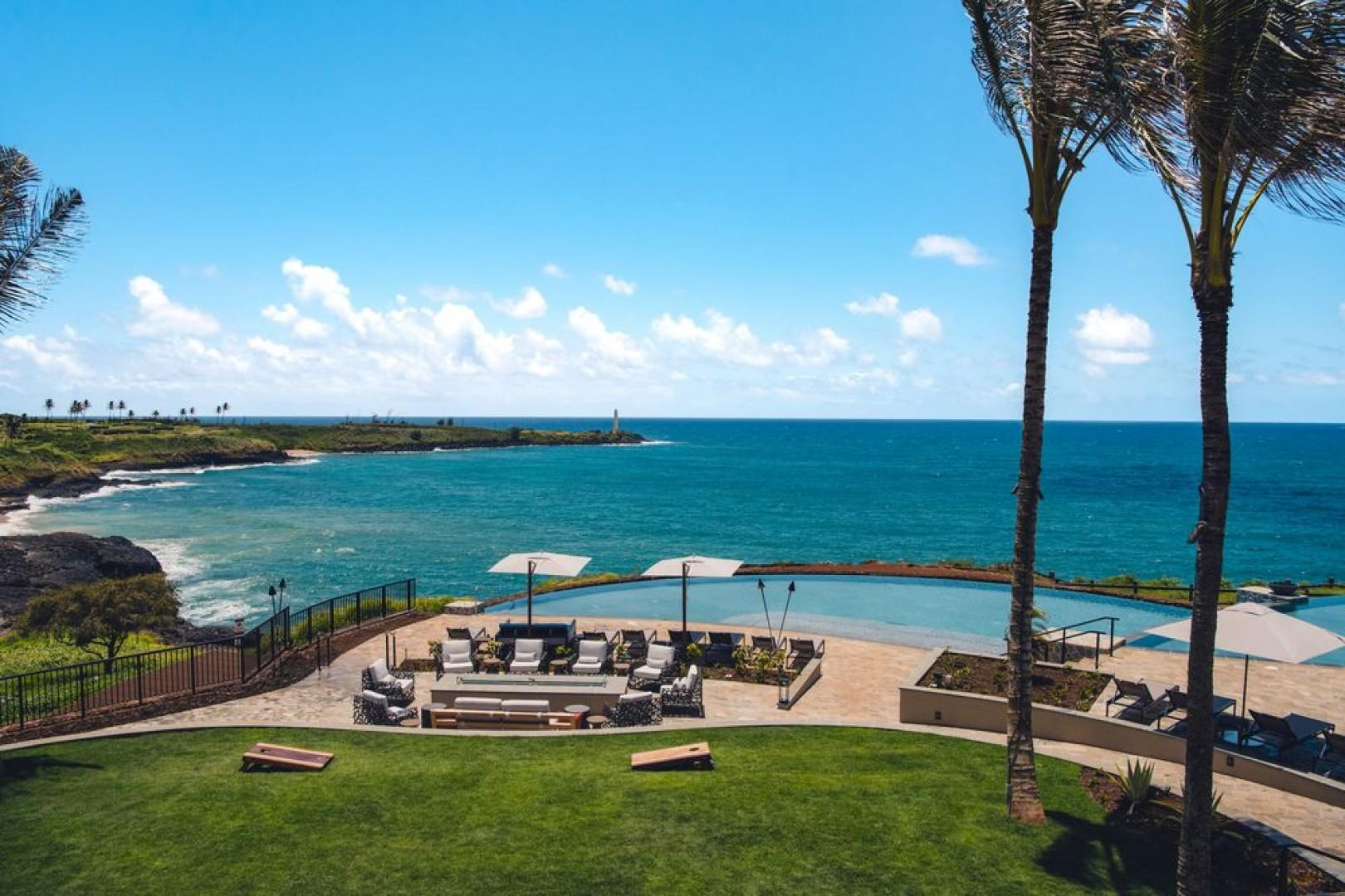 The Kaiholo pool looks out over the Pacific and Ninini Point Lighthouse.