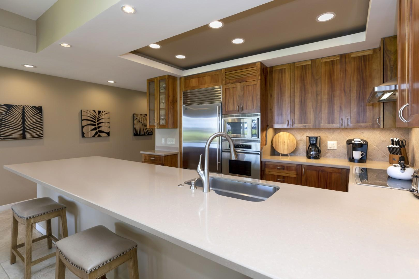 Lots of counter top space to utilize in the kitchen.