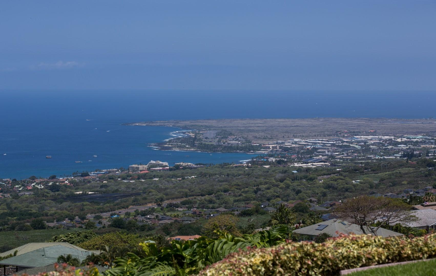 view of down town Kailua-Kona from Master Bedroom