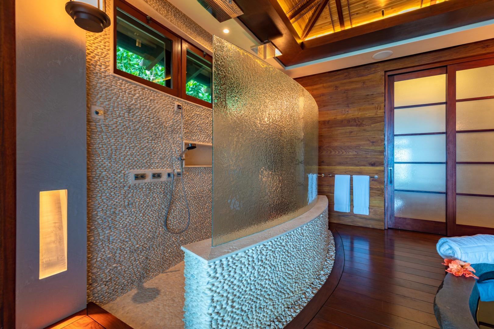Master Bathroom Open Shower