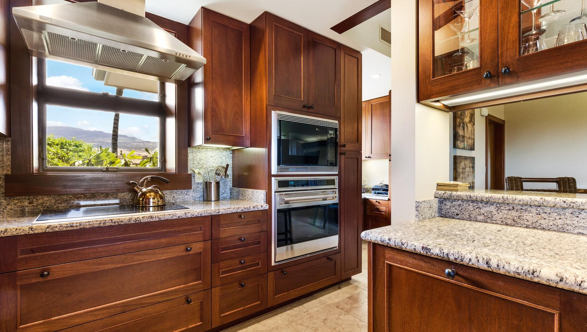 Kitchen with high-quality appliances.