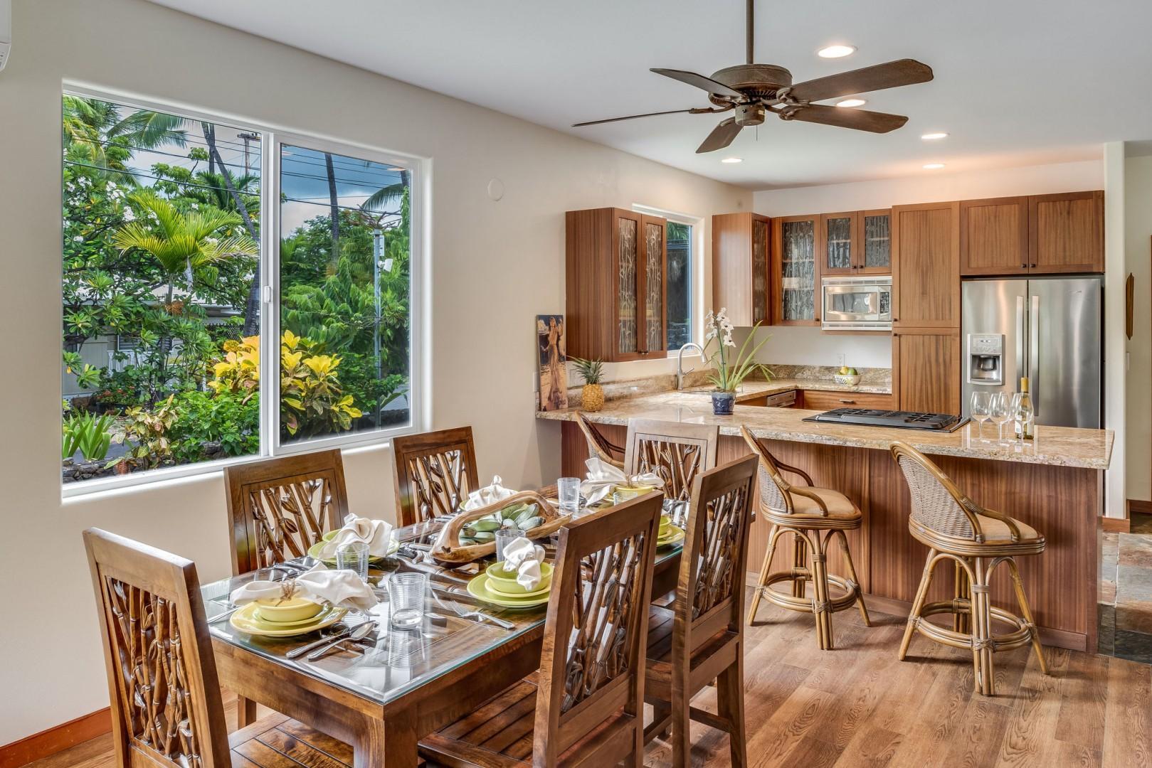 Hale Honu Dining & Kitchen area