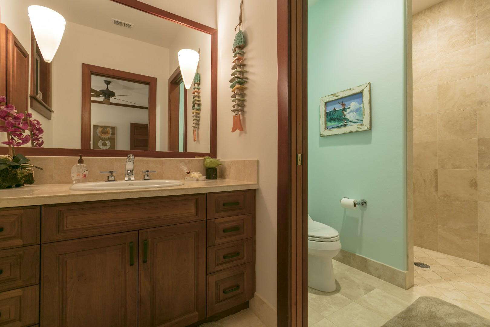 2nd Master bathroom with walk in shower