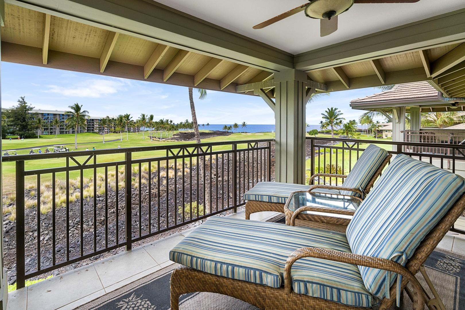 Upstairs Lanai (accessible from the Master bedroom)