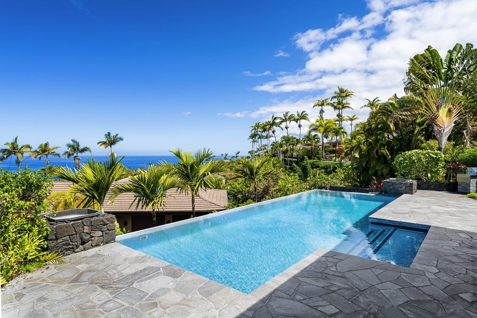 Breath taking views of the cost from the Infinity Edge Pool!