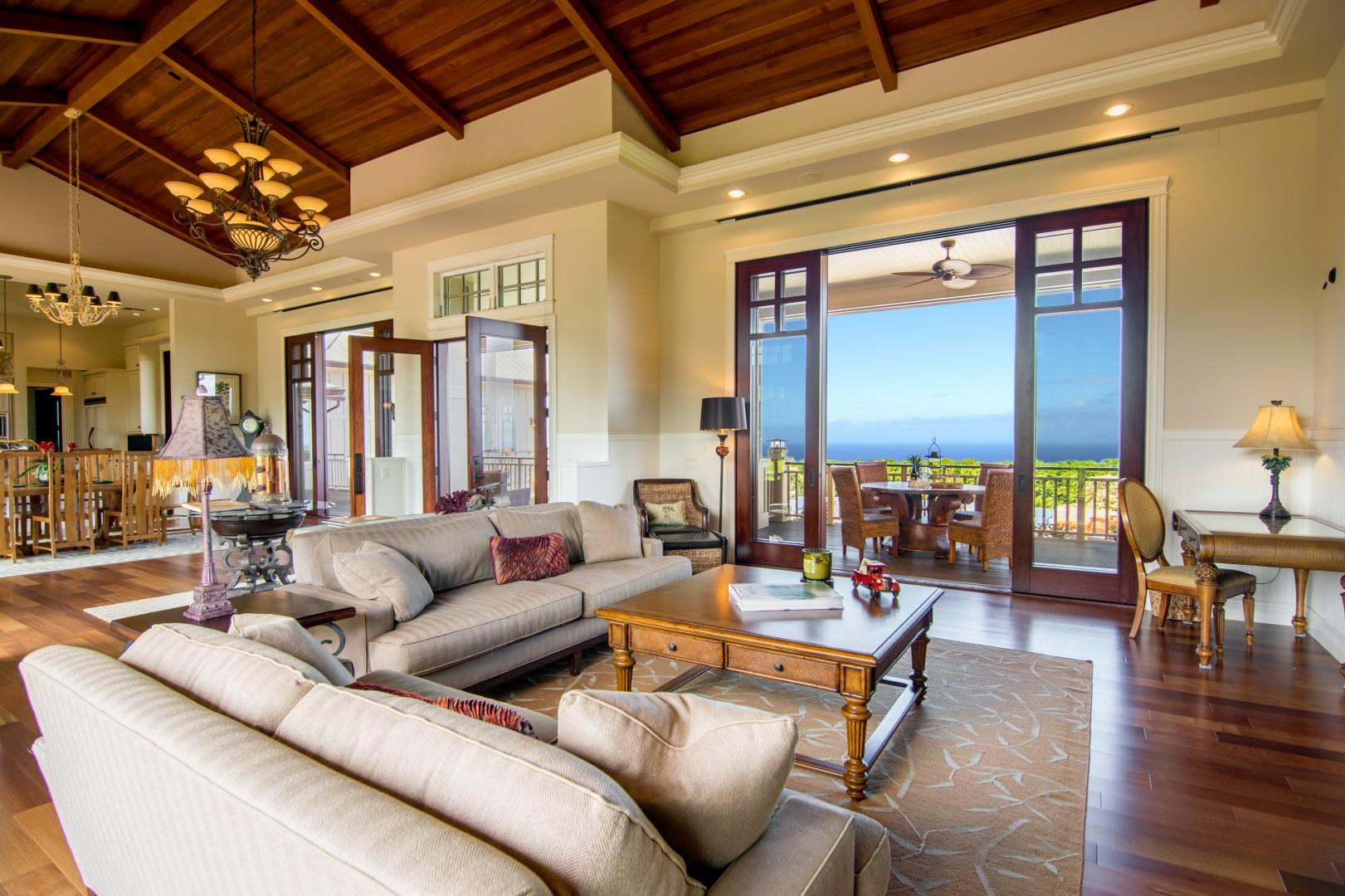 Living Room and View of Ocean