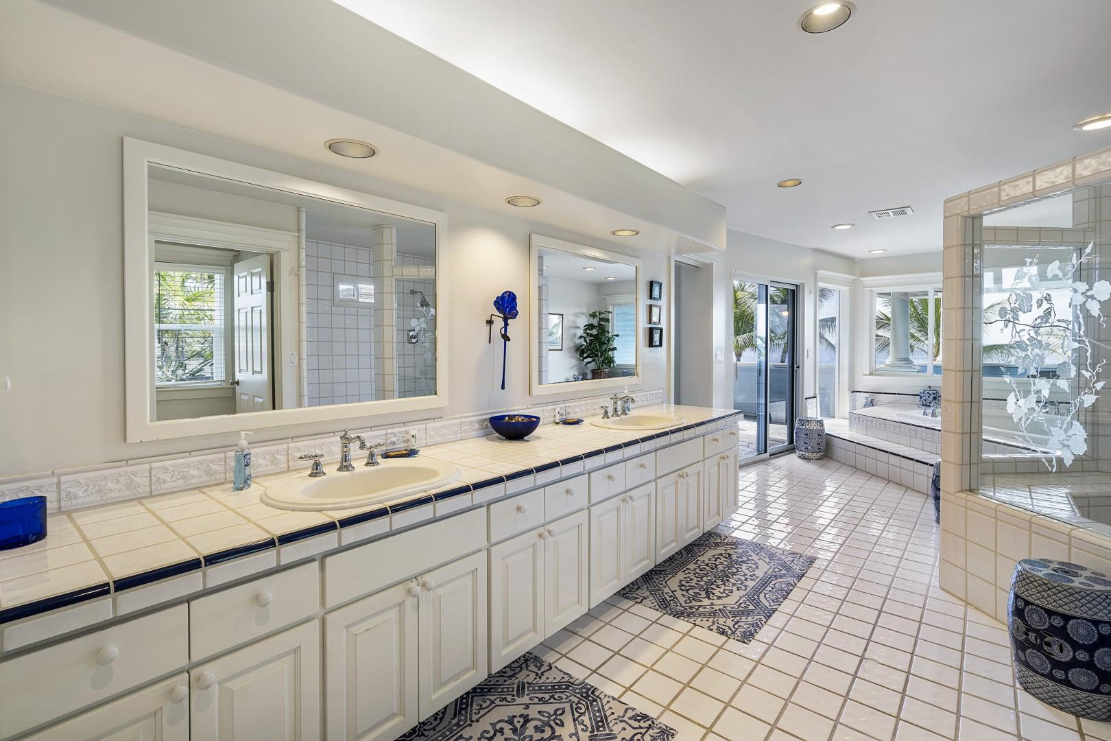 Dual vanities in the expansive Master bathroom!