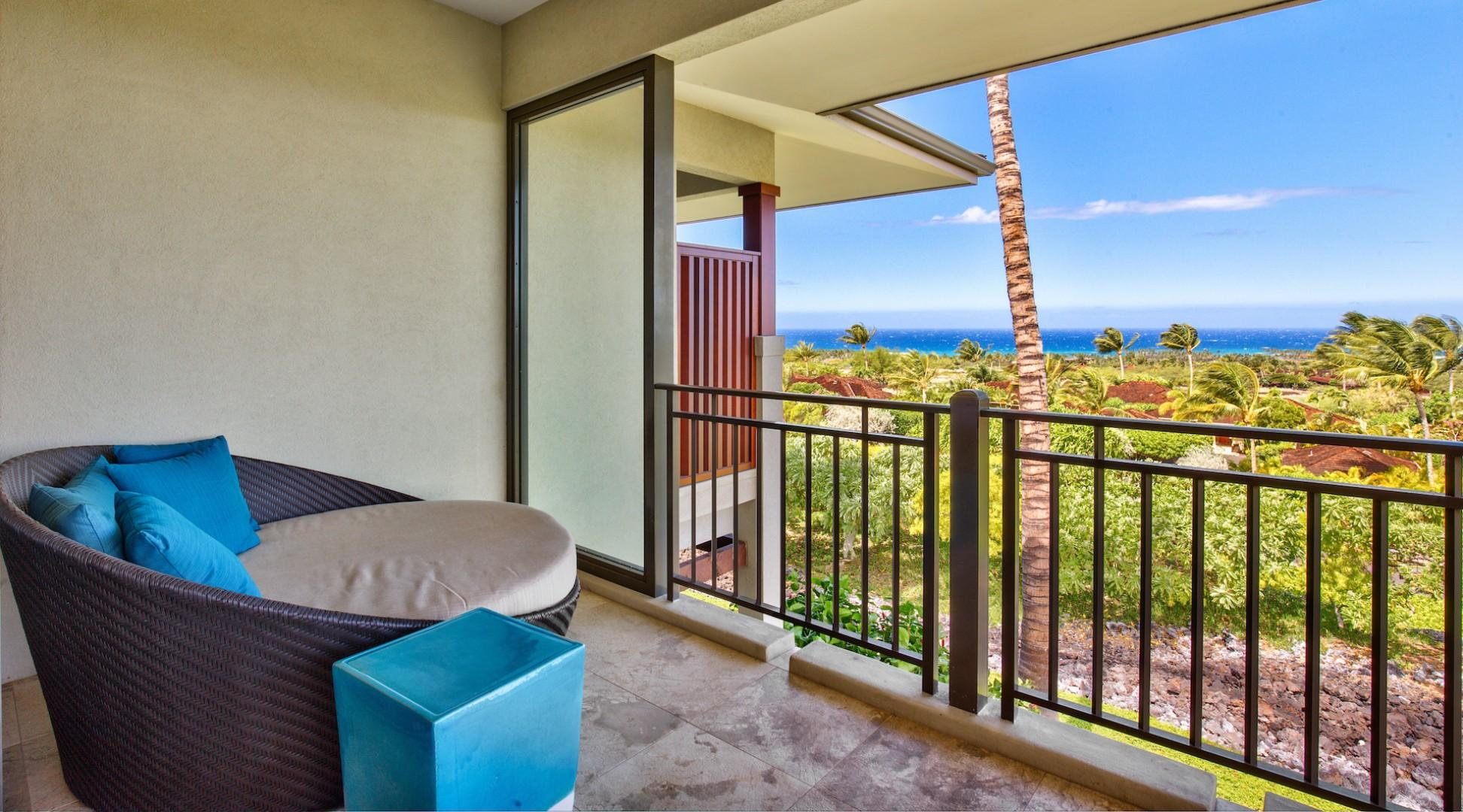 Private balcony off master bedroom.