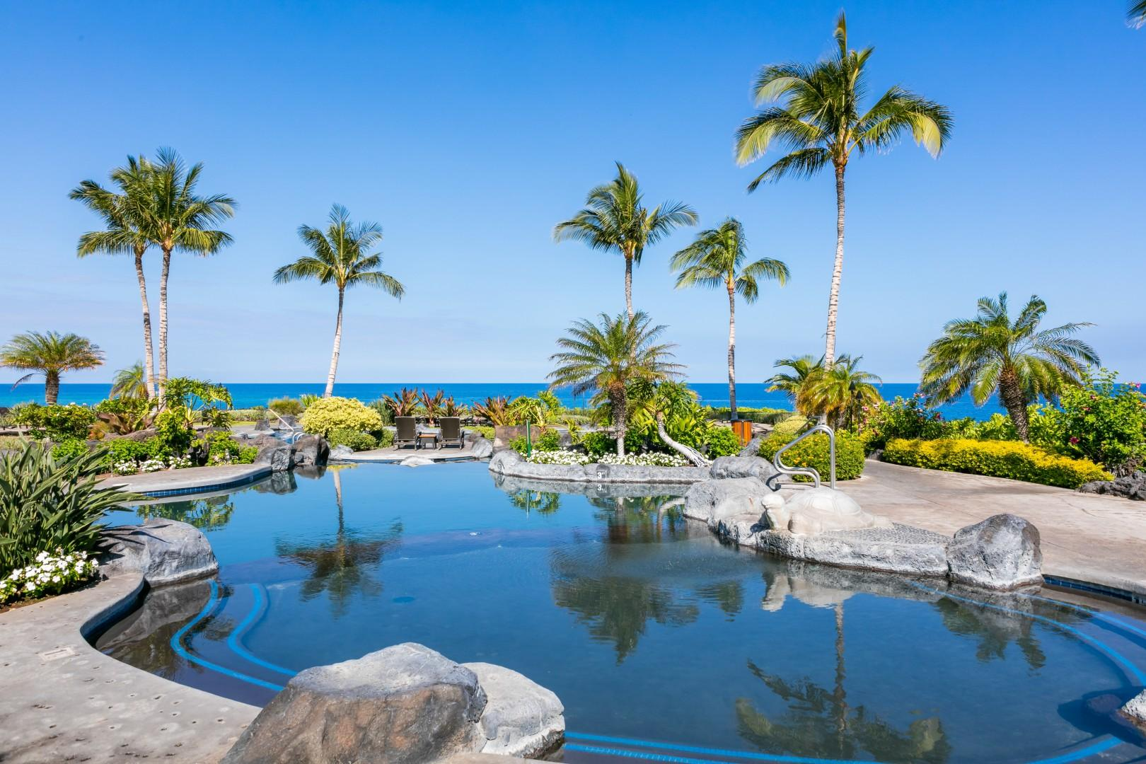 The resorts one-of-a-kind pool pavillion is incredible.