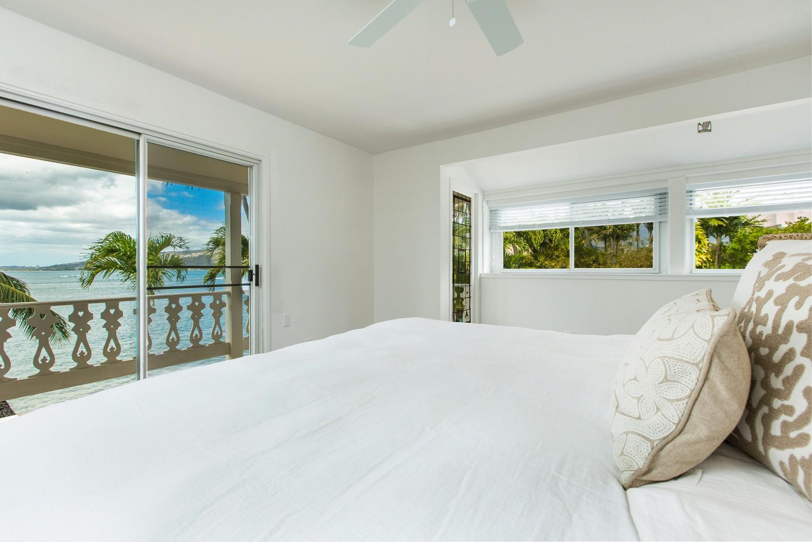 Master suite view from the king bed.