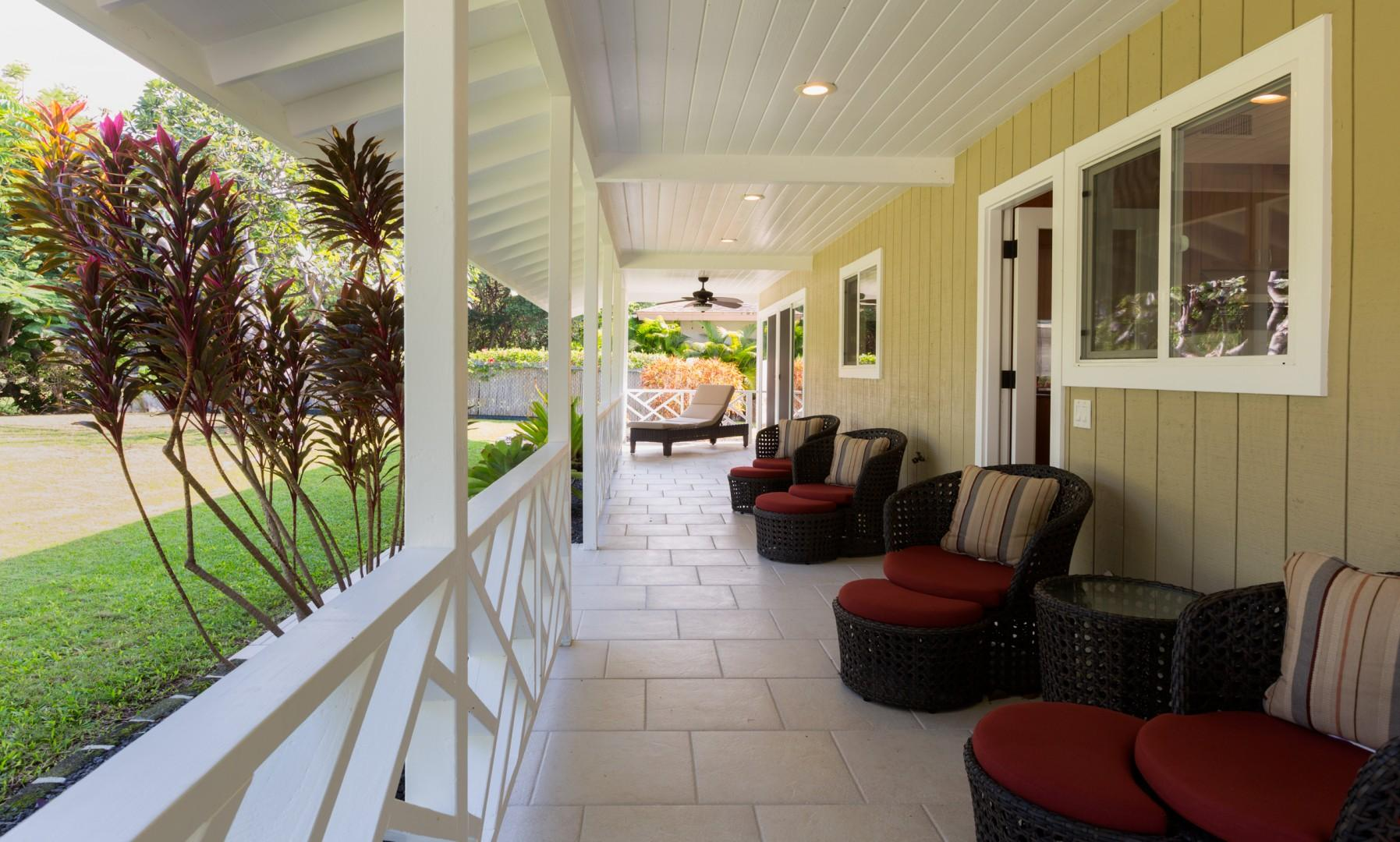 Relax on the covered lanai.
