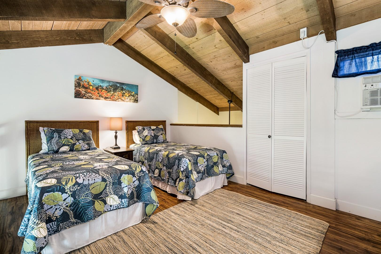 Loft equipped with A/C and two Twin beds!