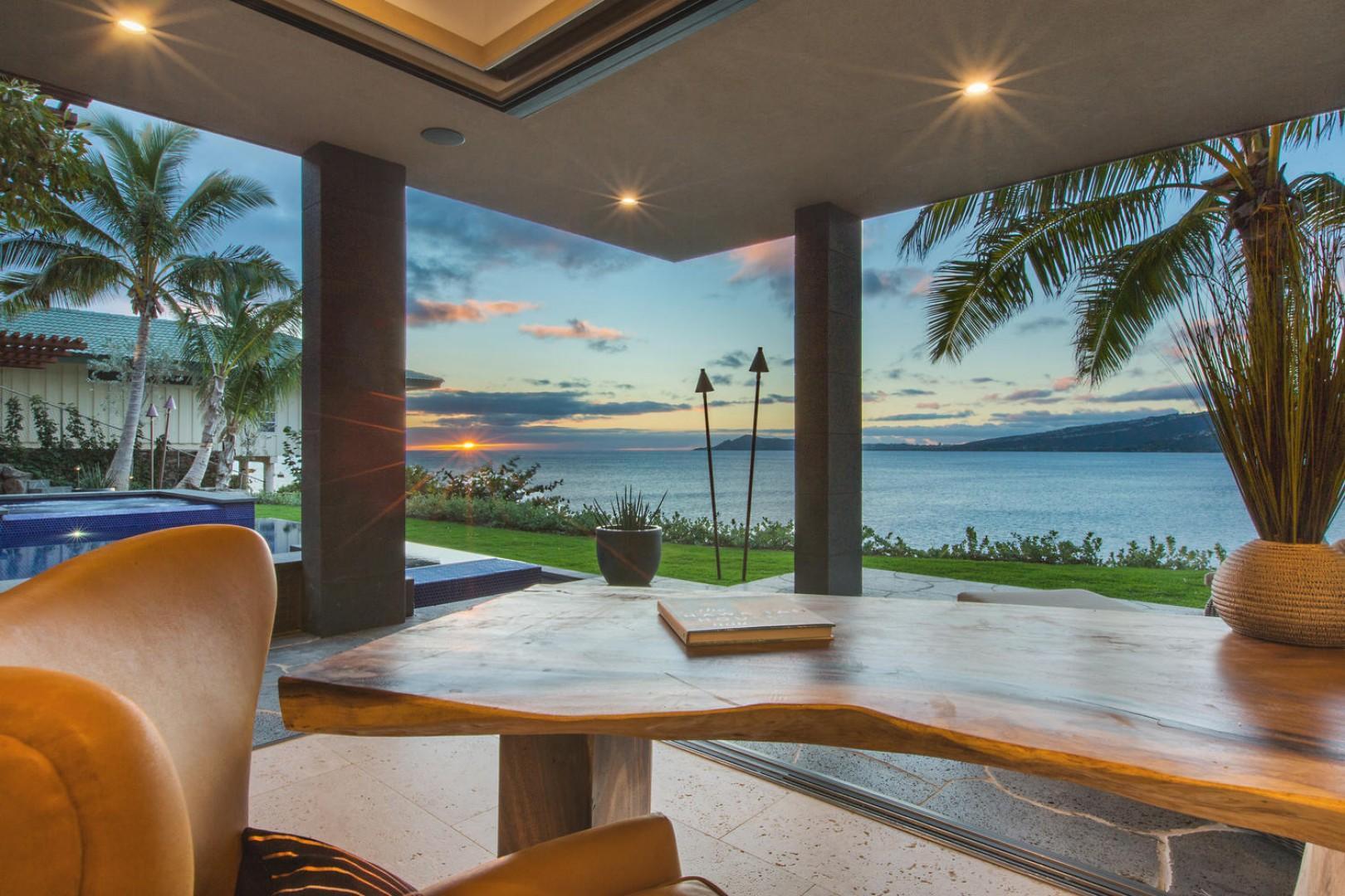 Oceanfront office views.