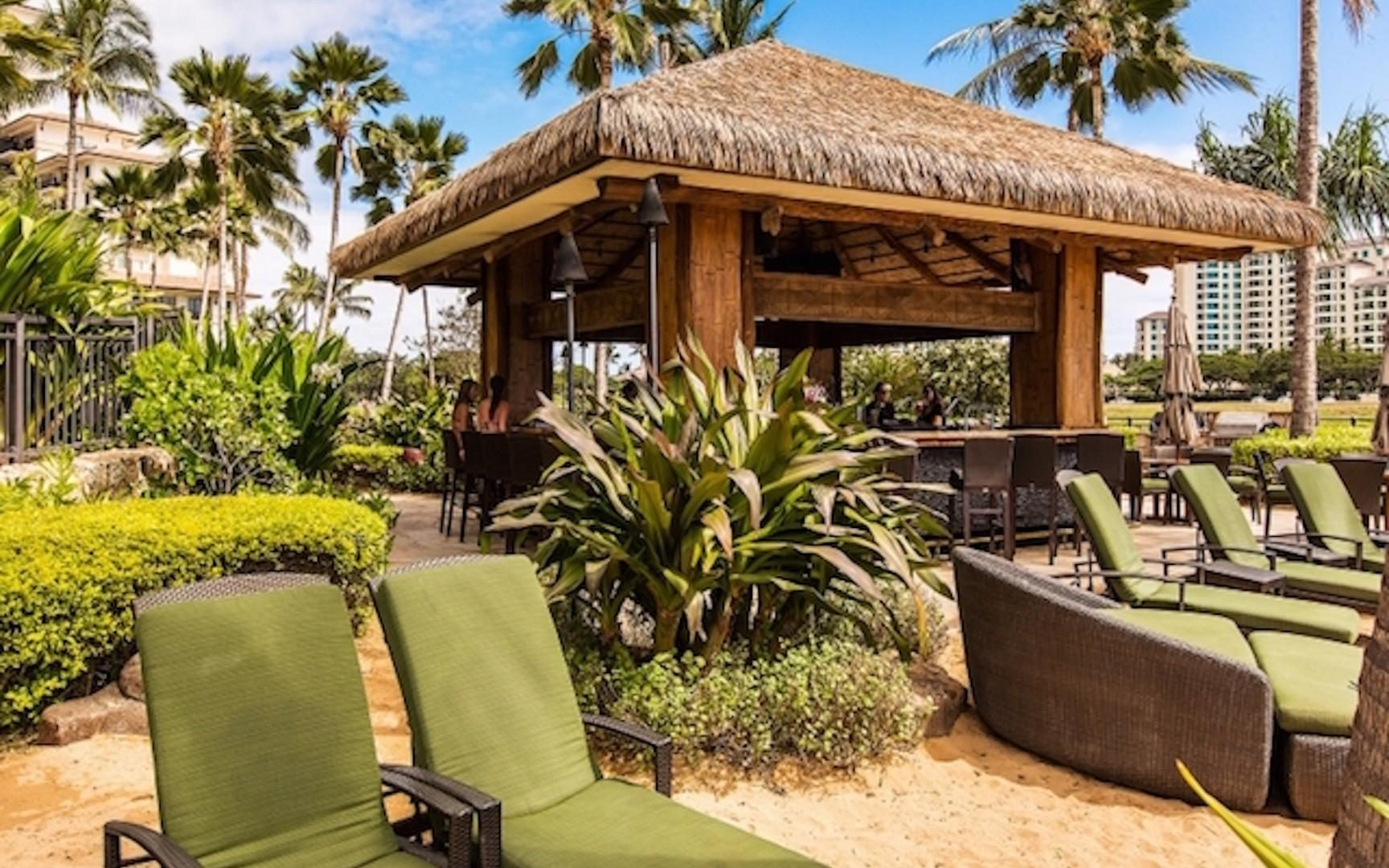 Beach Bar a short distance from your villa, private for resort guests only