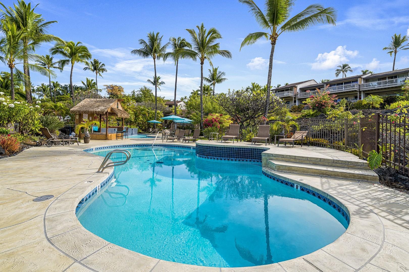 Beautiful pool area at Keauhou Resort