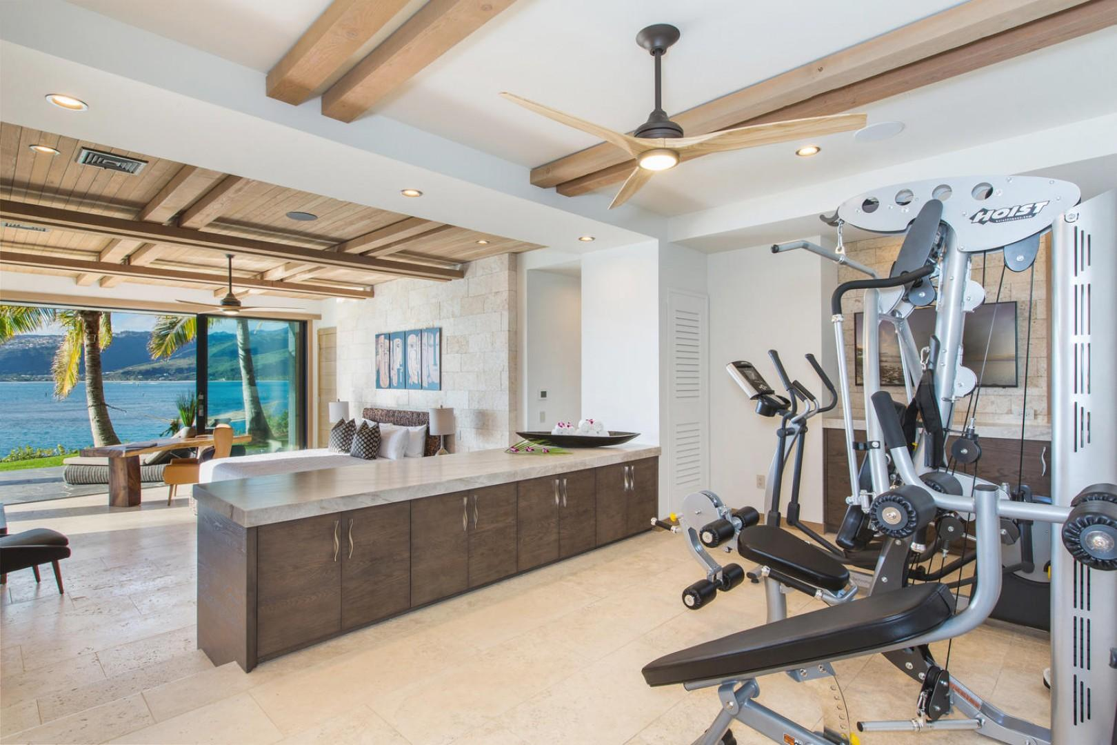 Fitness room and downstairs bedroom.