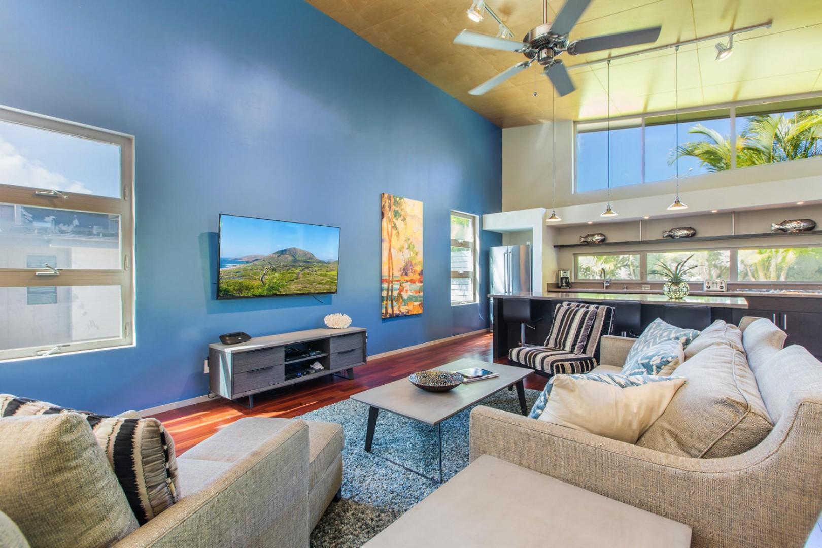 Open-concept living room