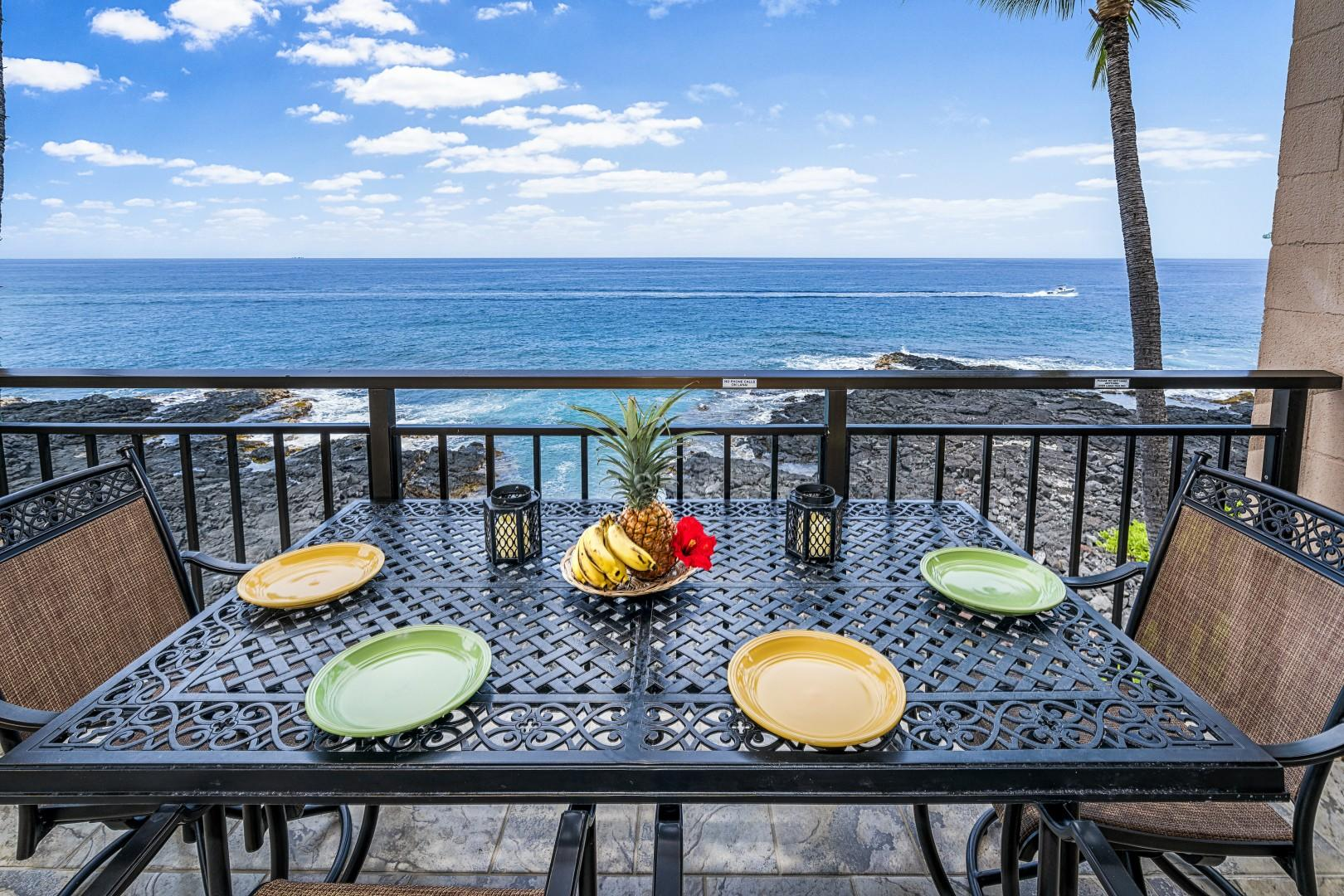 Take in all the beauty Hawaii has to offer on the wrap around Lanai!