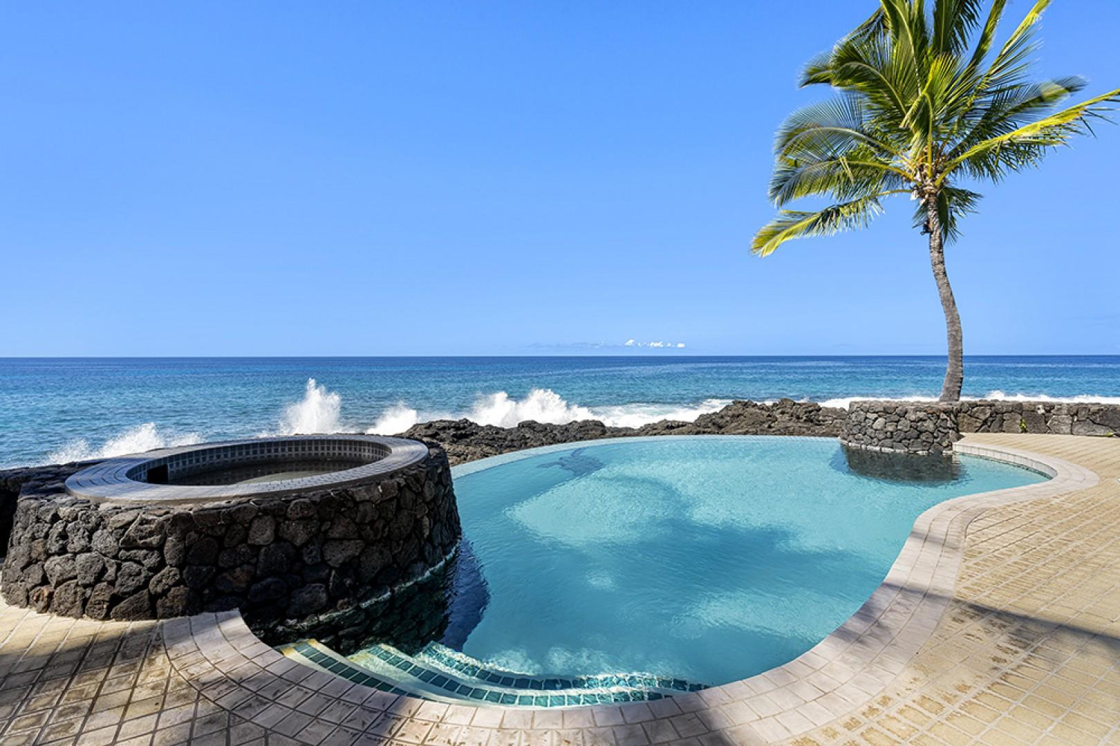 Spend the day in the solar infinity heated pool