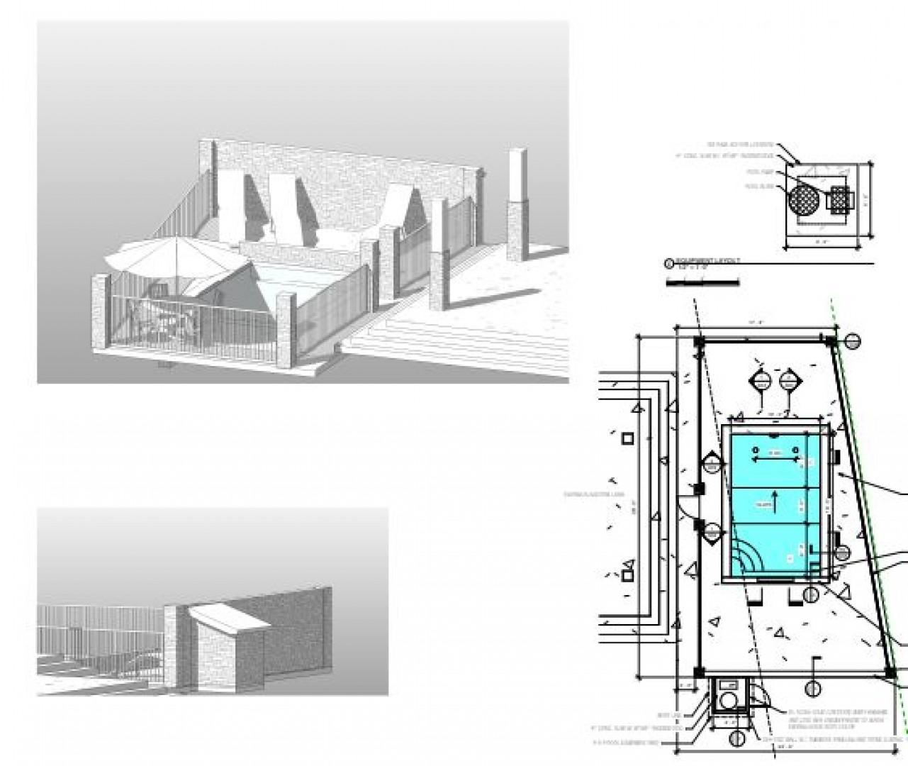 Plans for the brand-new pool