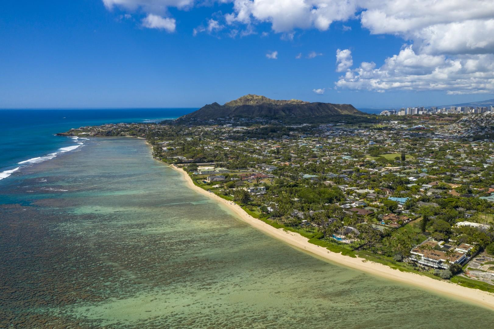 Diamond Head is only a five-minute drive away