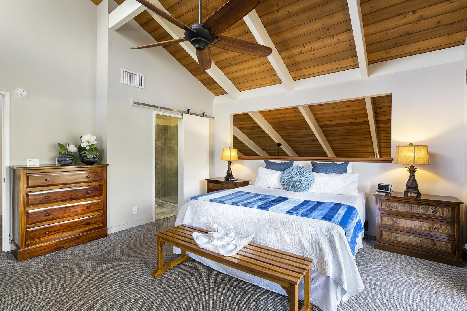 Spacious open air Master bedroom with central A/C