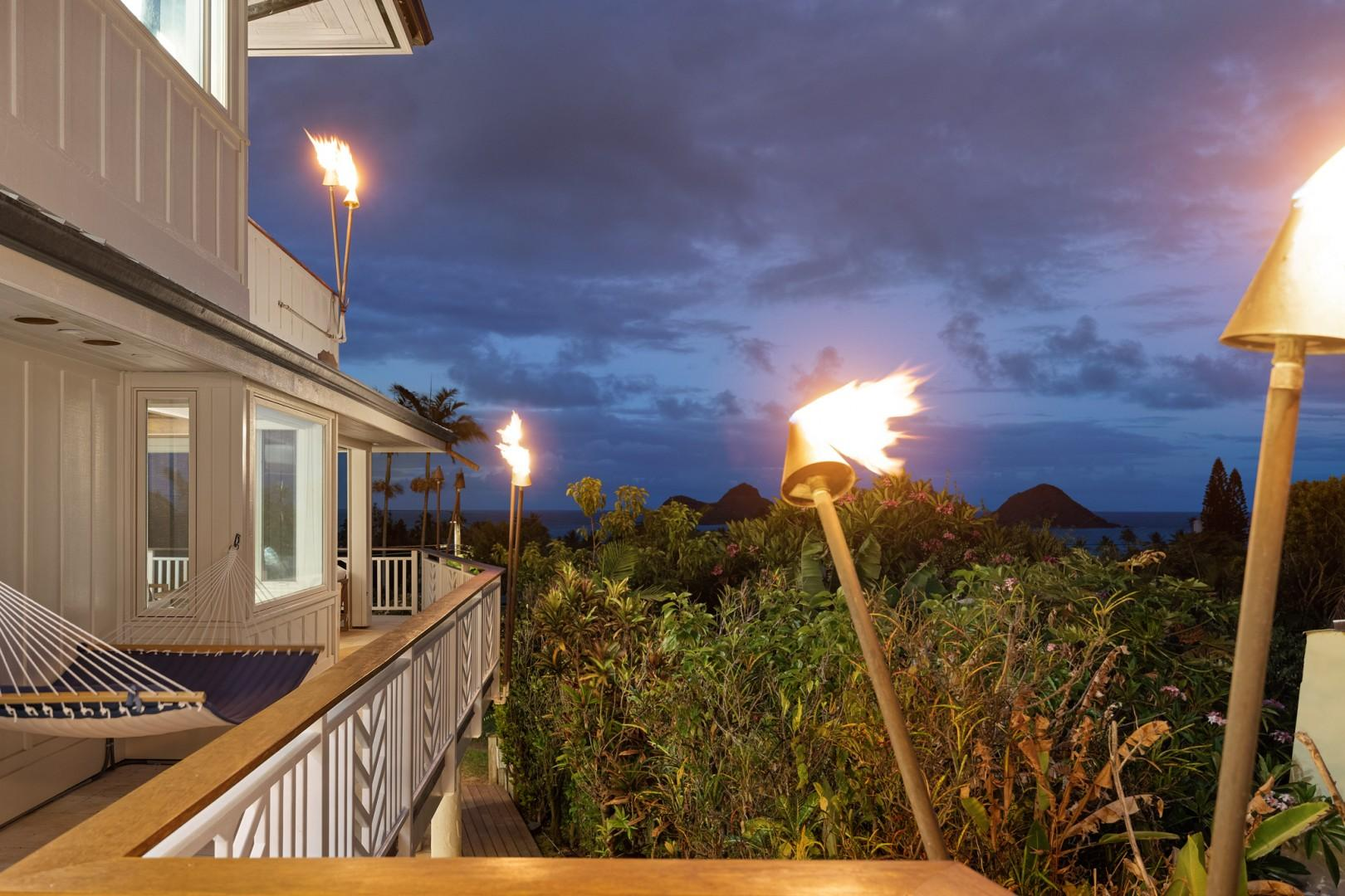 Tiki Torches and Ocean Views