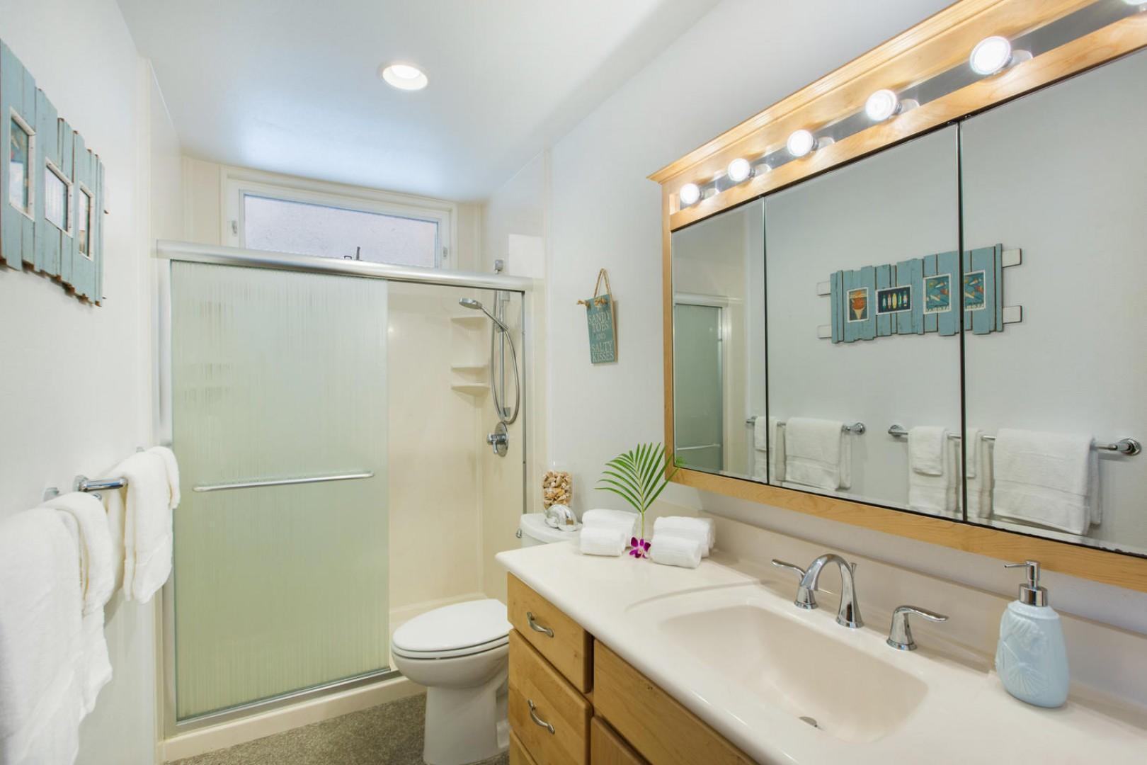 Shared hallway bathroom on main floor.