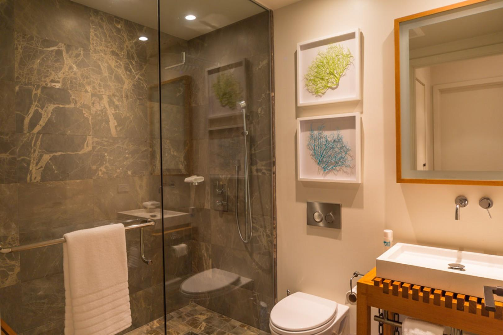 SeaGlass Villa 810 at Andaz Maui Wailea Resort - Guest Use Powder Room Near Kitchen with Shower