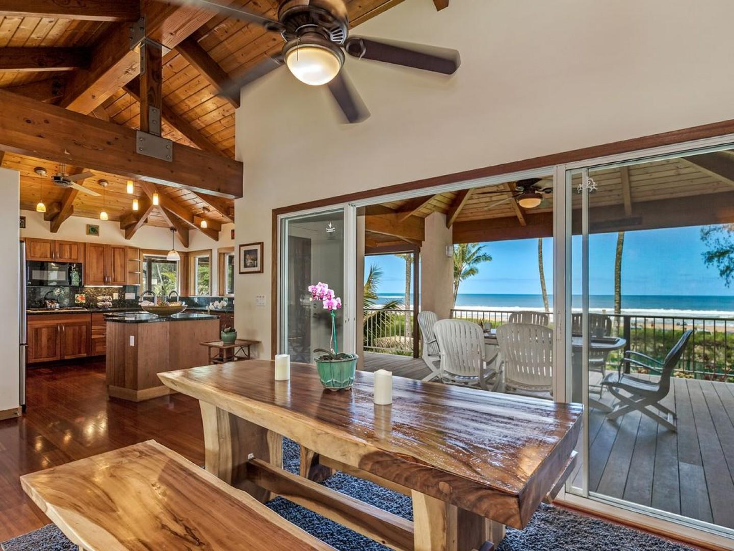 Views of Hanalei Bay from the Kitchen