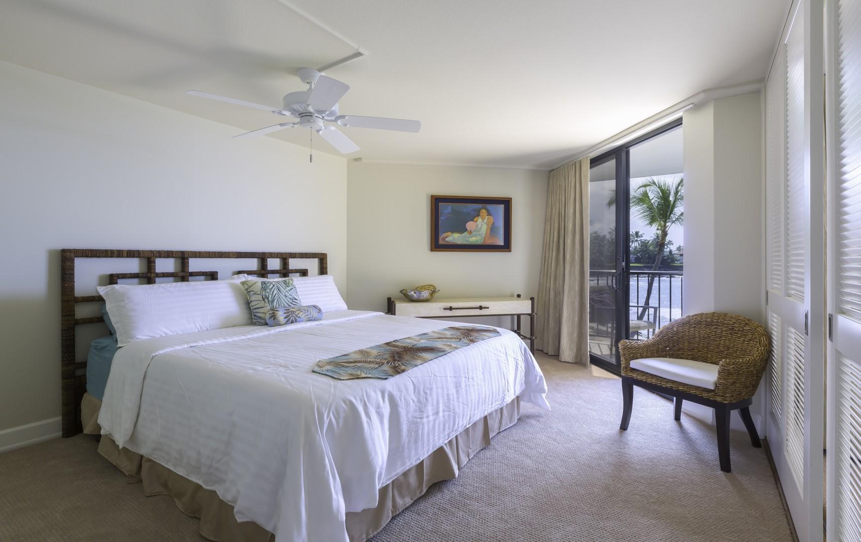 Spacious Master Bedroom with Lanai Views