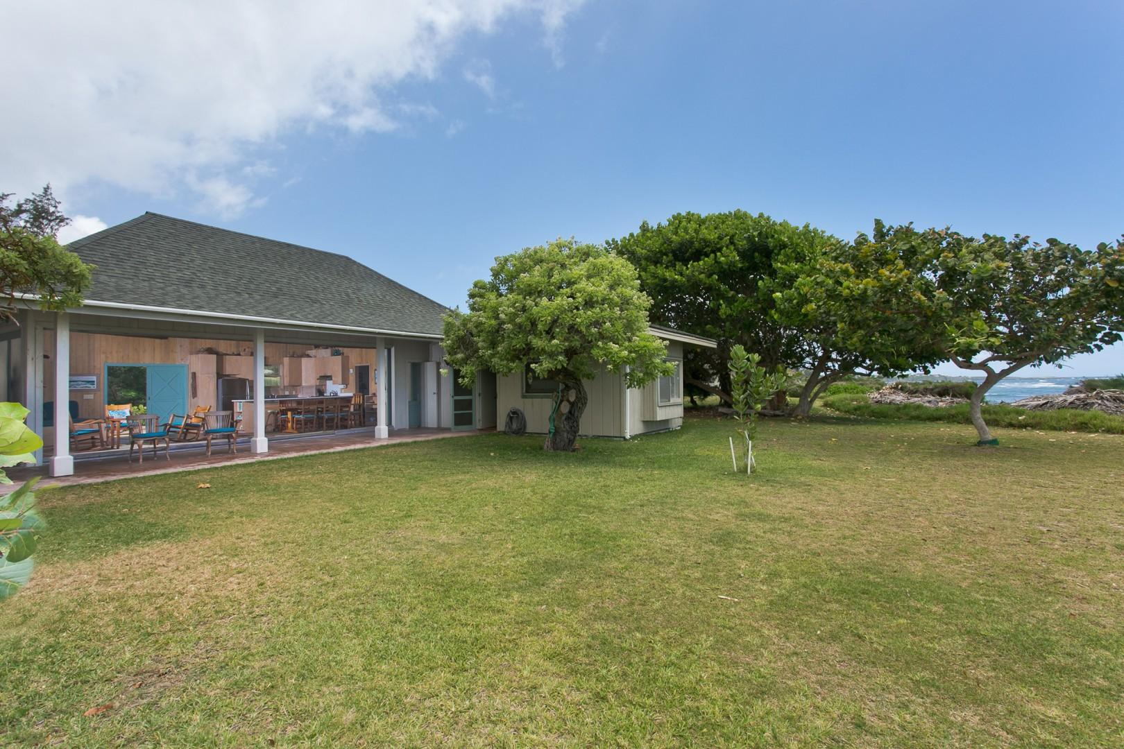 Waipuna Cottage, with oceanfront views.