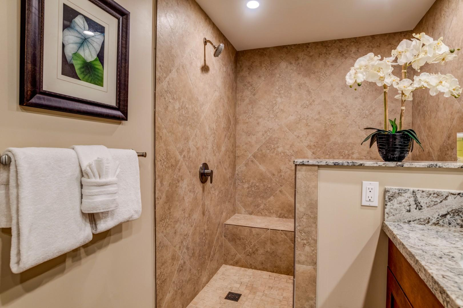 Large walk-in shower!