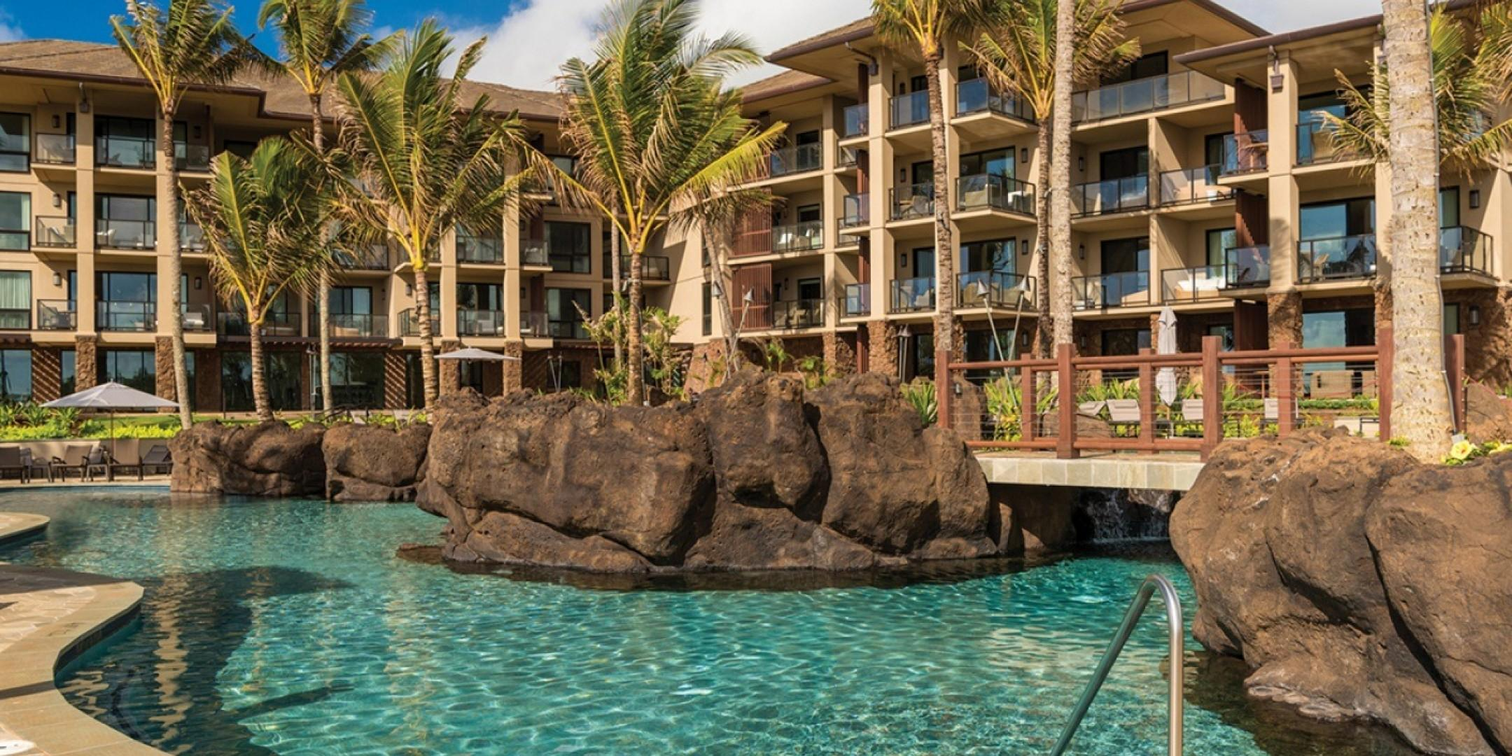 The Maliula ohana pool is the perfect place for families to enjoy their day together.