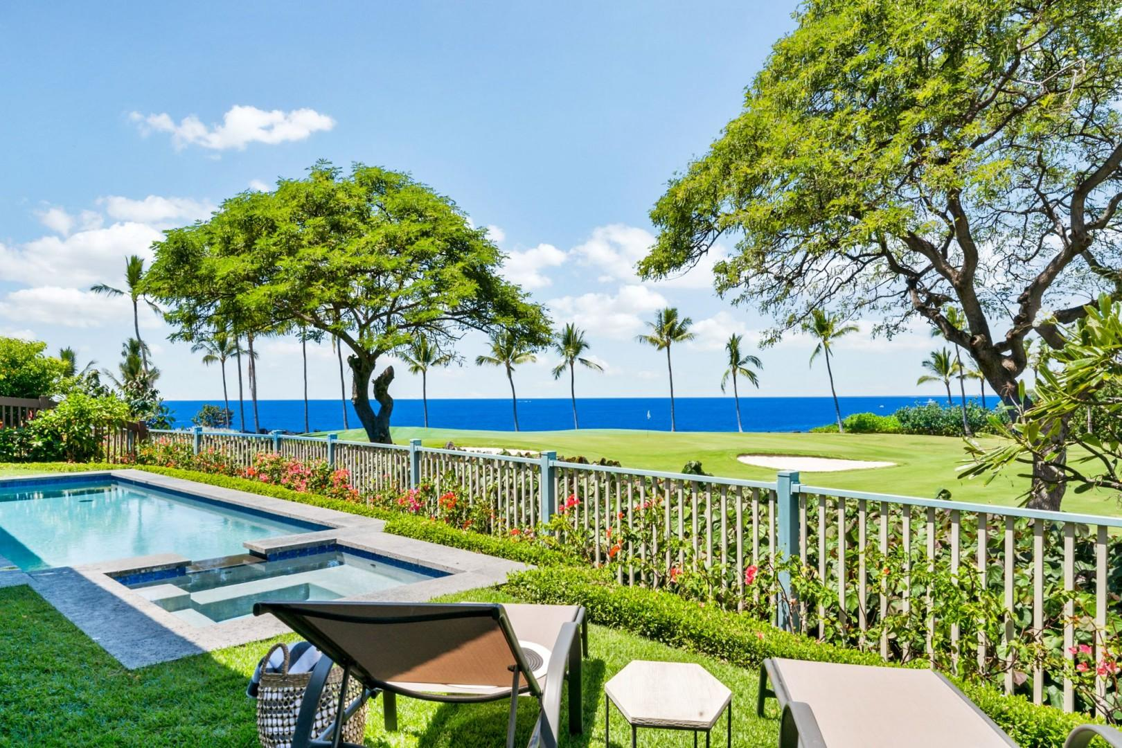 Kona Country Club golf course in front of the pool