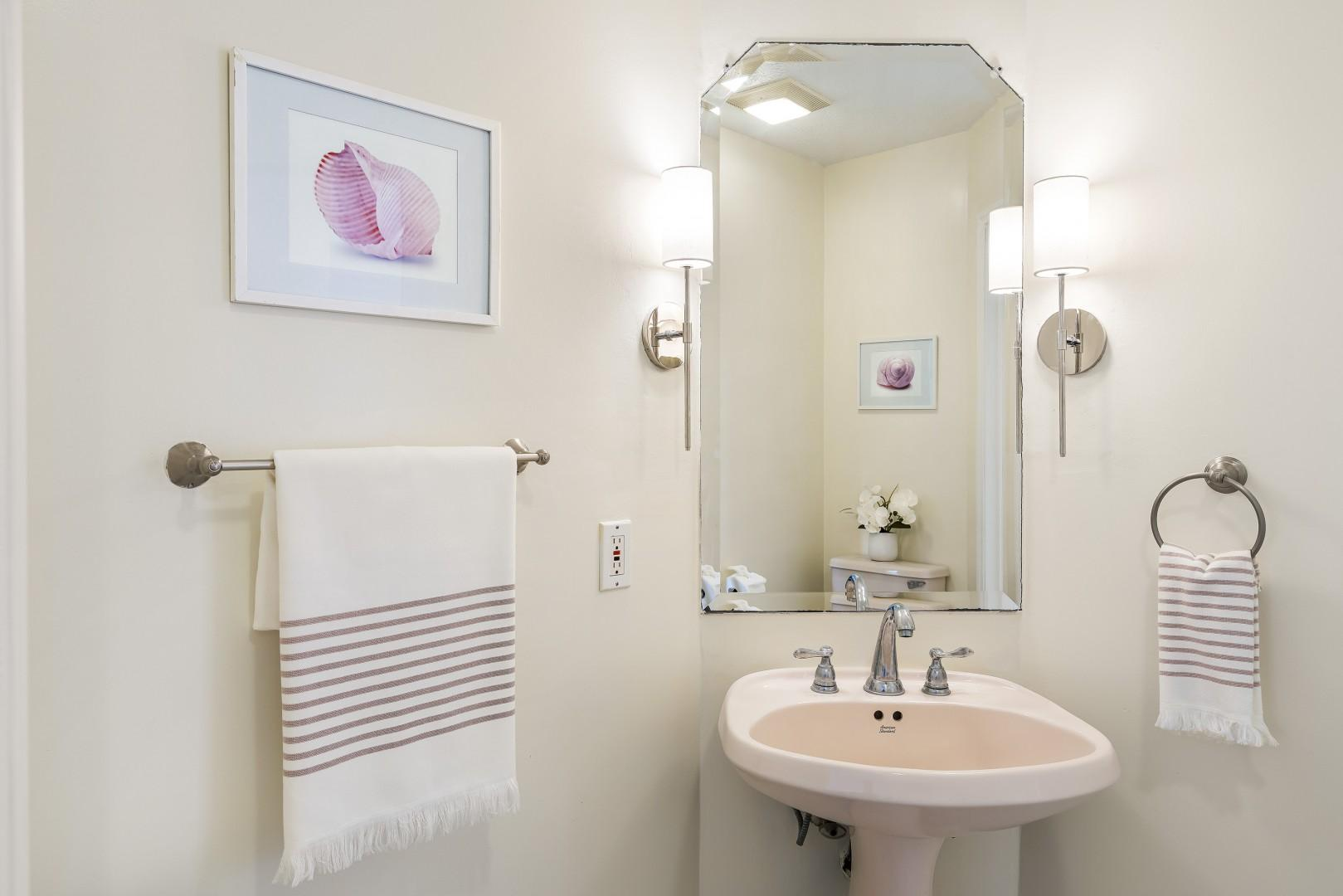 Half bath attached to office