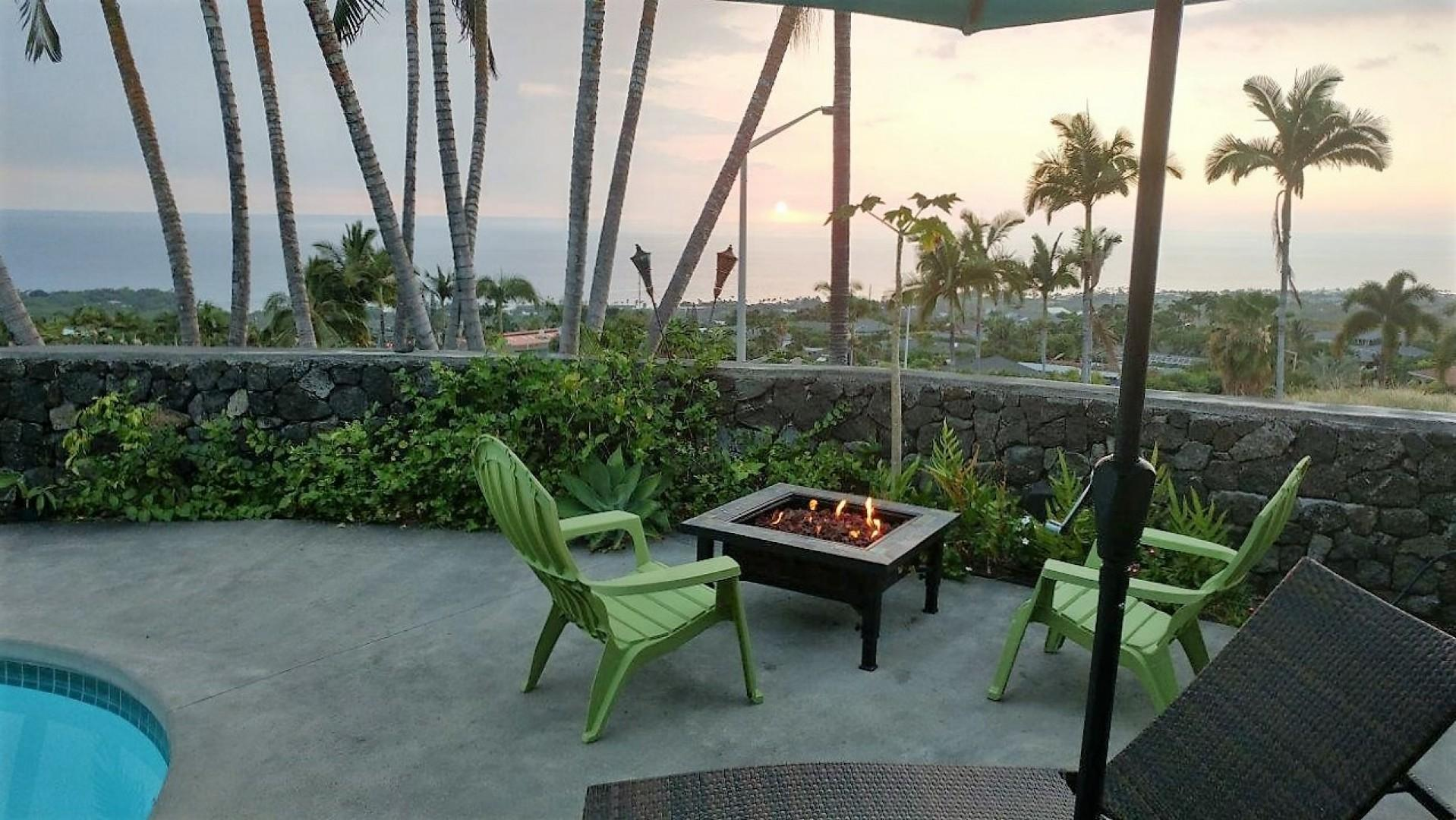 Hang out and relax in the evening by the fire pit.