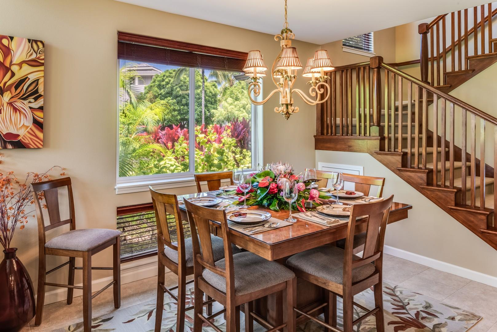 Elegant Dining Area w/ Views of the Lush Landscape