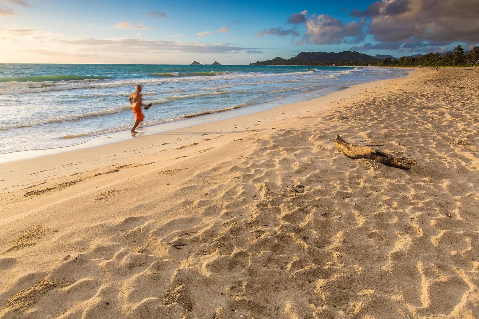 White sandy Kailua Beach.