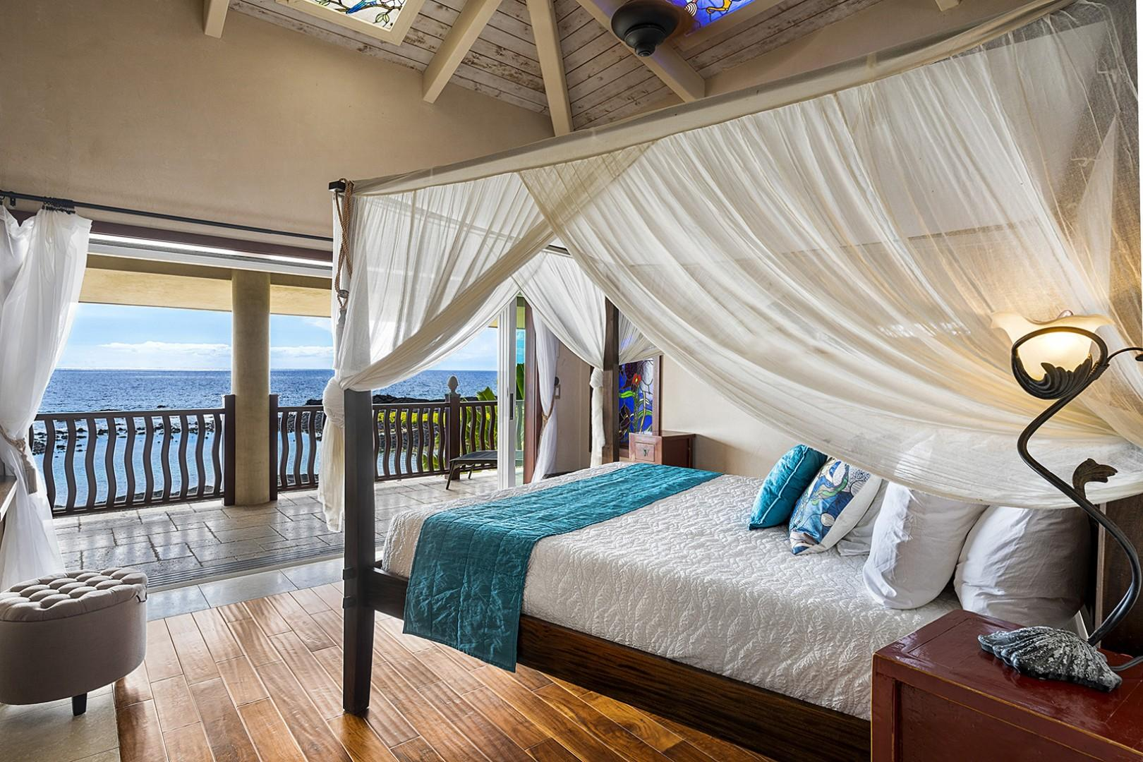 Master bedroom on the top floor