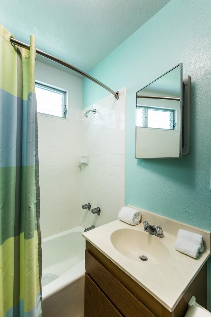 Guest cottage full bath.