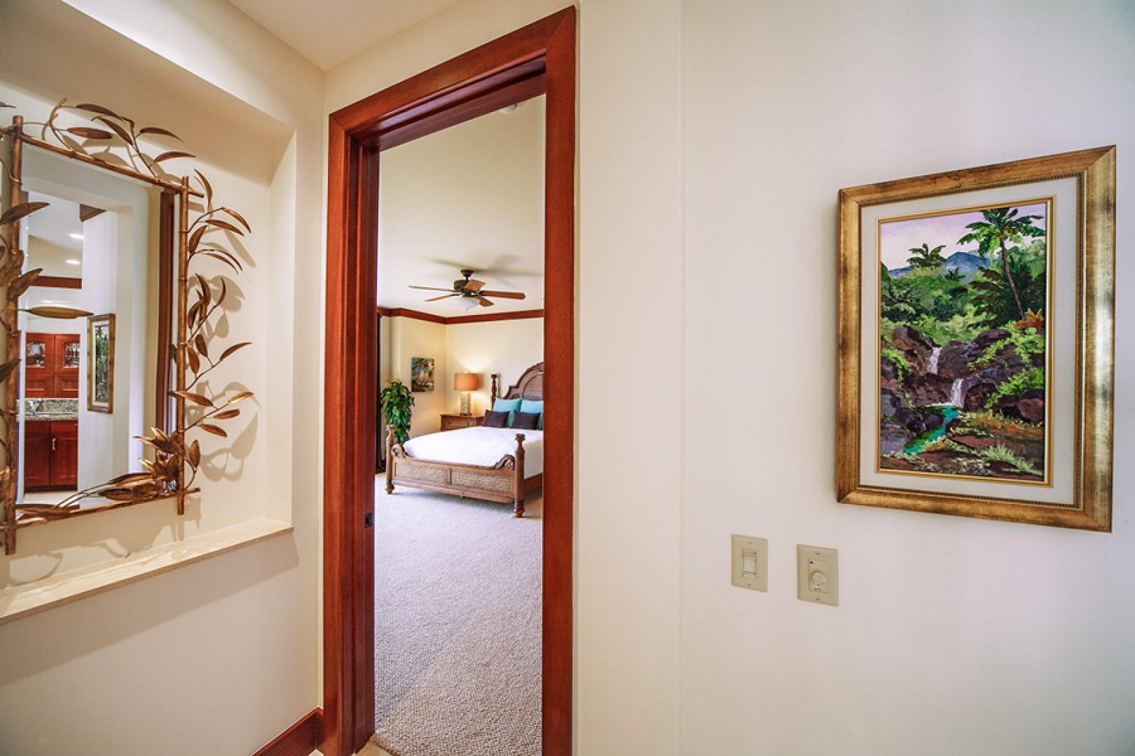 Entry into the master bedroom.
