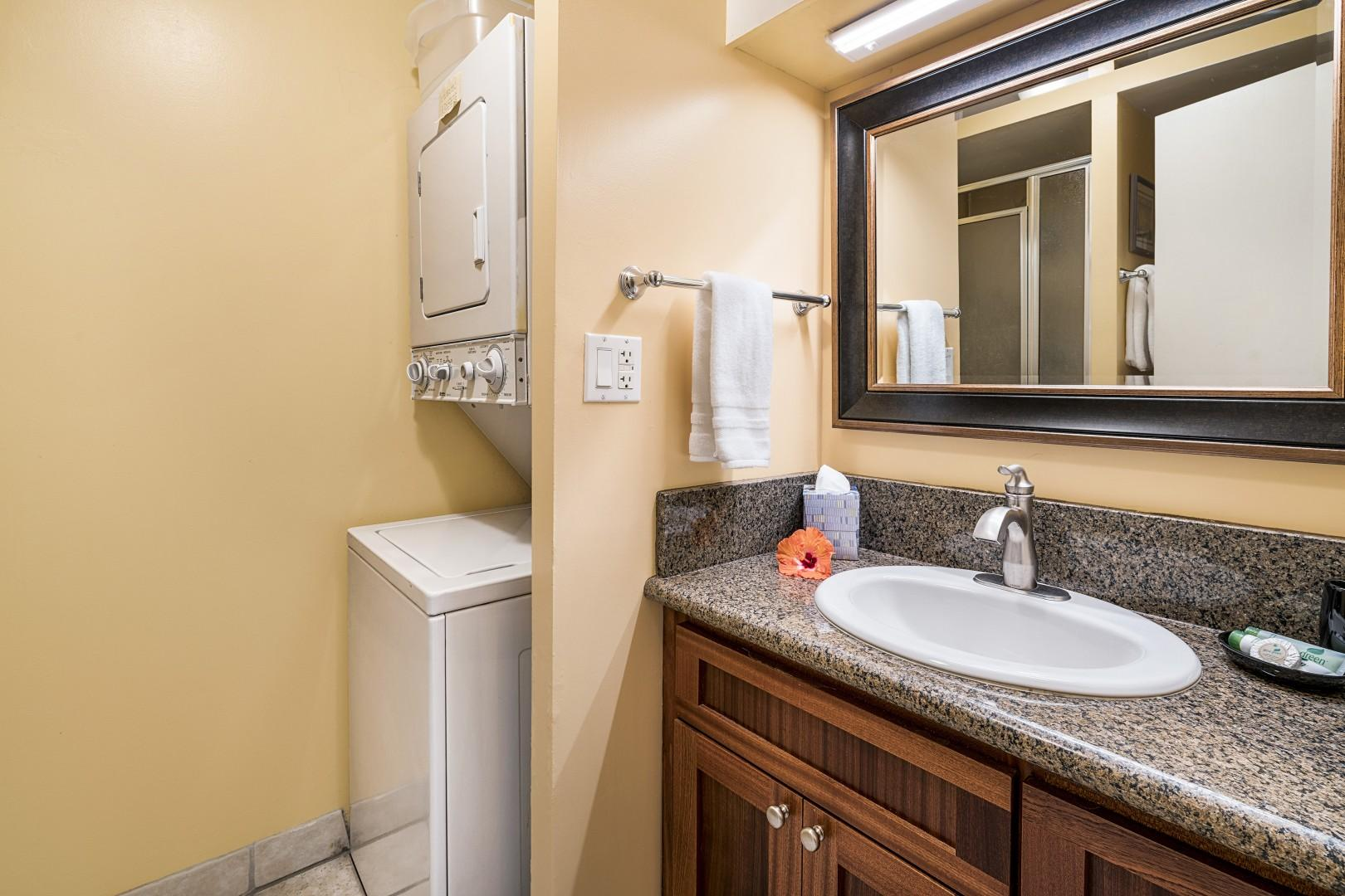 Upgraded guest bath with Washer & Dryer!